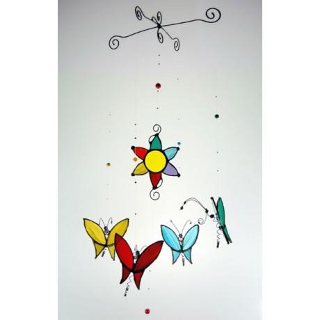 Móvil cuatro mariposas