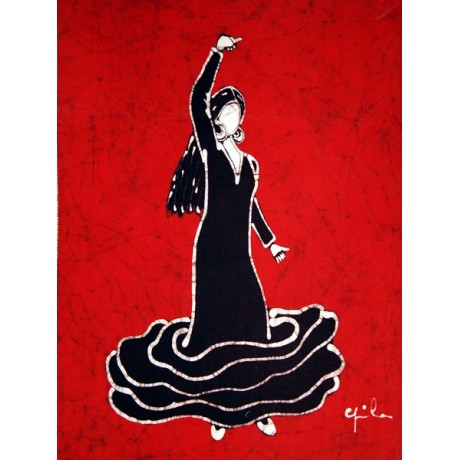 Batik bailadora flamenco