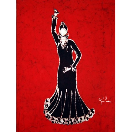 Batik flamenco dancer