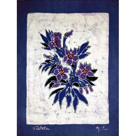 Batik Flora azul-lila